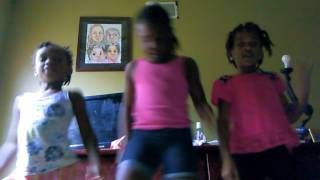 Three little girl petty dance