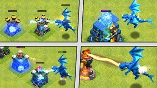 ELECTRO DRAGON vs ALL DEFENSES! New Troop in Clash of Clans! CoC Electro Dragon Attacks - Update!