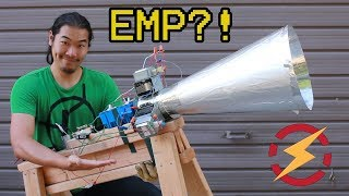 A Microwave Gun Made From Taser and Soup Can??? (Testing Kreosan