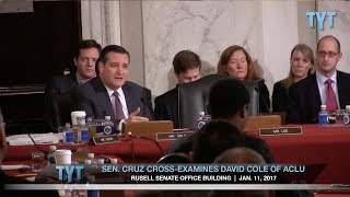 Ted Cruz vs. ACLU at Jeff Sessions Confirmation Hearing
