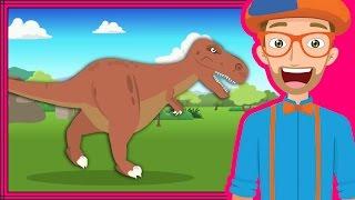 The Dinosaur Song by Blippi   Dinosaurs Cartoons for Children