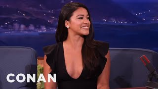 Gina Rodriguez's Dad Taught Her To Box  - CONAN on TBS