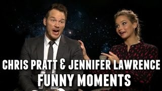 Chris Pratt and Jennifer Lawrence Funny Moments 2017