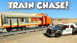 LEGO POLICE CHASE TRAIN! - Brick Rigs Gameplay - Multiplayer Cops & Robbers & Train Chase!