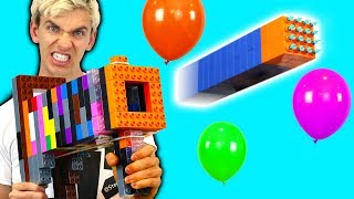 LEGO NERF GUN VS BALLOON!