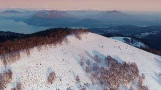 Drone footage shows spectacular views of first snow in Italian Alps