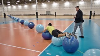 World Record Exercise Ball Surfing   Overtime 6   Dude Perfect