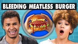 BLEEDING MEATLESS BURGER - Impossible Burger   College Kids Vs. Food