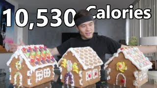 x3 Gingerbread House Challenge (10,500+ calories)