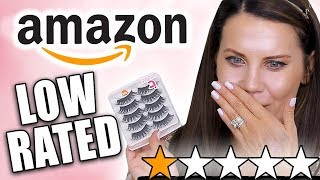 TESTING LOW-RATED AMAZON MAKEUP