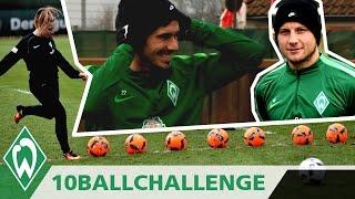 ⚽🏆 10 BALL CHALLENGE mit Fin Bartels & Philipp Bargfrede | SV Werder Bremen