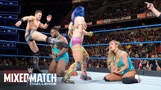 """""""Awe-ska"""" dishes out a vicious dual attack on Big E & Carmella in WWE Mixed Match Challenge"""