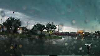 Tornado Blows Over Big Rigs in Sealy, TX. I-10 Shutdown Both Directions...