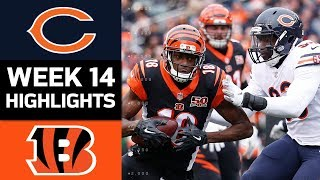 Bears vs. Bengals | NFL Week 14 Game Highlights