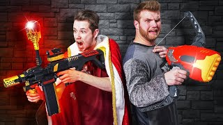NERF D&D Arena | Save the King Challenge!