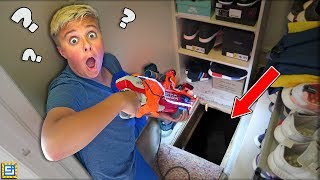 Exploring Our Secret Spooky Hidden Crawl Space Underground Tunnel!! (WHAT