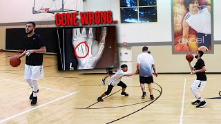 Playing basketball w/ A BROKEN HAND! *GONE WRONG*