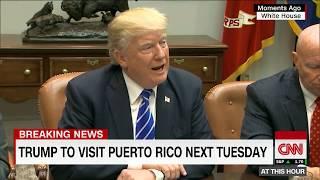 President Trump to visit Puerto Rico in wake of hurricane