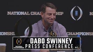Dabo Swinney and Clemson MVPs National Championship Press Conference