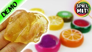 Super cooler SOMMER SCHLEIM   Glibber Dosen im Frucht Look: Wassermelone, Kiwi & Orange   Kneten