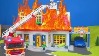 PLAYMOBIL Film deutsch: Feuerwehrmann Einsatz bei Playmobil Familie | Kinderfilm Serie Kinderserie