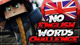 NO ENGLISH WORDS CHALLENGE (Minecraft Skywars)