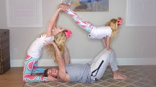 HILARIOUS FAMILY YOGA CHALLENGE!!! (Trying impossible poses)
