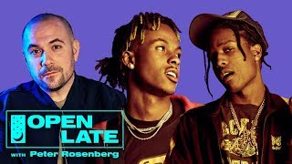 """A$AP Rocky and Rich The Kid join Peter Rosenberg for debut episode of """"Open Late"""""""