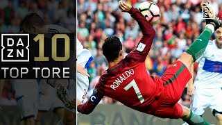 Top10: WM-Quali-Gala mit Cristiano Ronaldo, Isco und Co.   Top 10 Tore   WM-Quali   DAZN