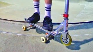 Scooter with Skateboard Trucks?!