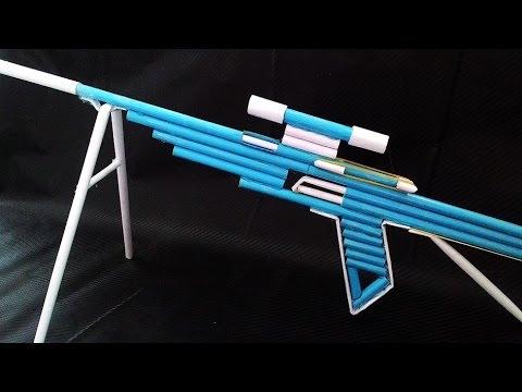 Как из бумаги сделать снайперскую винтовку стреляющий бумагой видео