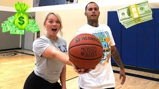 BOYFRIEND VS GIRLFRIEND BASKETBALL GAME 1 V 1 CHALLENGE ($5,000 CASH BET)