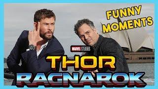 Chris Hemsworth and Mark Ruffalo Funny Moments | THOR RAGNAROK 2017