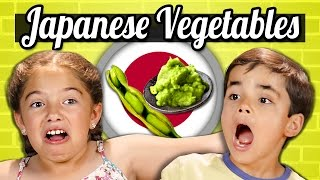 KIDS EAT JAPANESE VEGETABLES! | Kids Vs. Food