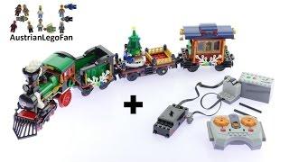 Lego Creator 10254 Motorization Winter Holiday Train - Lego Speed Build Review