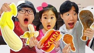 복불복 젤리 vs 진짜음식 랜덤뽑기 보람 또치 코난 오랜만에 복불복 게임 했어요!! GUMMY vs REAL FOOD 캐니멀컬링