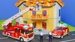 PLAYMOBIL Film deutsch: Feuerwehrmann Familie Rettungsaktion | Kinderfilm Episode für KINDER