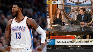 ESPN The Jump Reacts To Paul George Sighing With The Thunder&Staying In OKC!