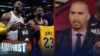 Nick Wright reacts to LeBron James & Dwyane Wade
