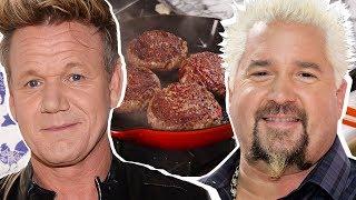 Gordon Ramsay Vs. Guy Fieri: Whose Burger Is The *Best*?? | Celebrity Snackdown | Delish