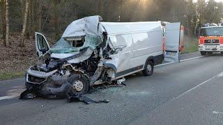Schwerer Unfall auf A44 bei Kassel 28.03.2017