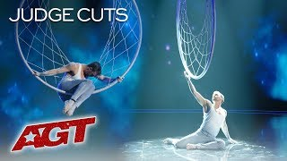 Matthew Richardson Honors Late Father With Emotional Aerial Hoop Act - America's Got Talent 2019