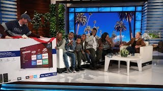 Ellen Surprises a Family with a 12 Days Giveaway