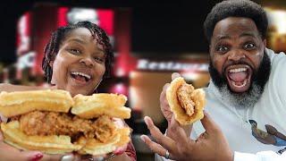 KFC Chicken and Waffles vs KFC Tender Cakes