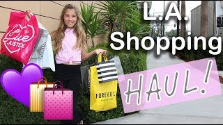 SPRING FASHION HAUL (come shopping with me in LA!) | Rosie McClelland
