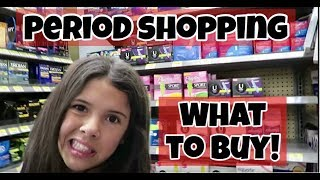 Period Shopping How To | What to Buy: Pads, Tampons, etc.