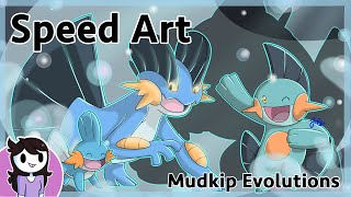 Speedart: Mudkip Evolutions