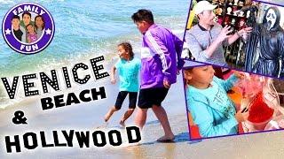 VENICE BEACH TREFFEN MIT HOLLYWOOD STARS ? | FAMILY FUN