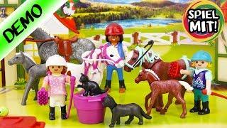 Playmobil Adventskalender 2017 | Alle 24 Türchen geöffnet! Großer Reiterhof mit Fohlen, Pony, Pferd