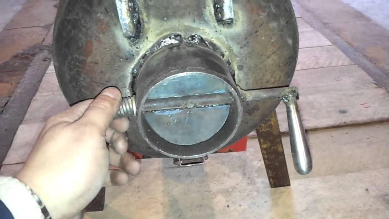 Печь из газового баллона своими руками фото